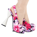 LF40814 Lady Sexy Closed Toe Slingback Cone Heel Party Platform Pump Size 4/5/6/7/8/9/10