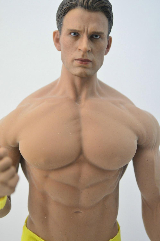 DIY 1/6 escala Capitán América Chris Evans figura de acción cabeza Phicen cuerpo masculino-in Figuras de juguete y acción from Juguetes y pasatiempos    1