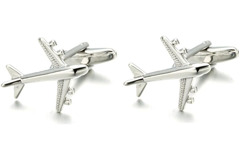 20pairs lot Silver Quality Plane Cufflinks Classic Fighter Cuff Links Jewellery Men s Gift Airplane Gemelos