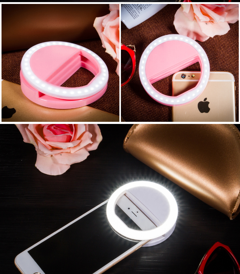 Selfie LED Flash Light Portable Universal Selfie Ring Lamp Upgrade Mobile Phone Lens Selfie Lamp Ring Flash For iphone Cellphone