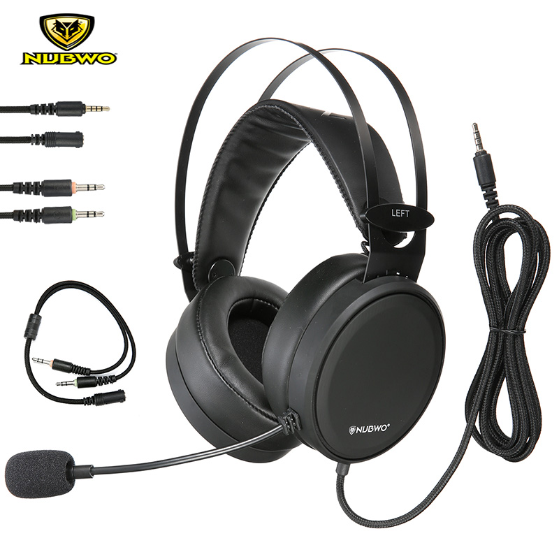 NUBWO N7 Mobile Phone Gaming Headset Stereo Deep Bass Noise Reduction PS4 Game Headphones With Microphone For XBOX ONE PC Gamer high quality headphones with microphone gaming headset for pc ps4 xbox one mobile gamer earphone cable with mic