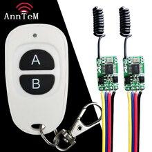 Mos sin contacto interruptor de Control remoto transmisor receptor Micro Mini mando a distancia inalámbrico encendido apagado en miniatura sin controlador de sonido