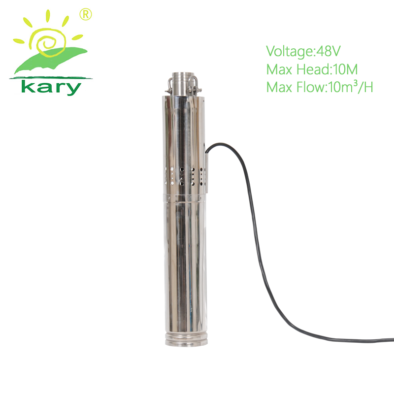 Kary high efficiency solar water pump for agriculture submersible irrigation pump prices with 10T H flow