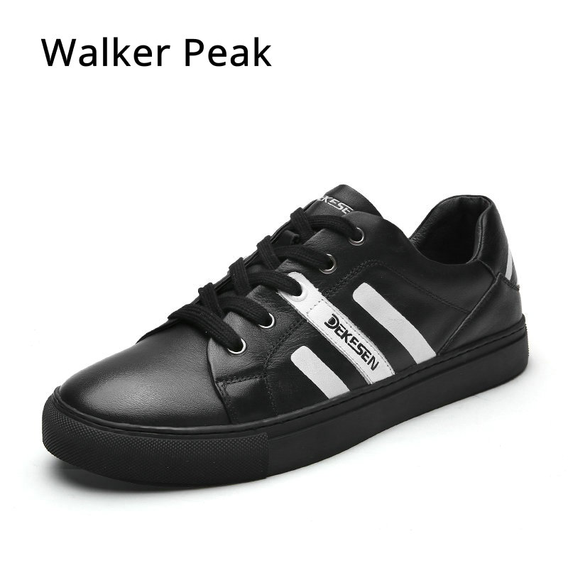 New 2017 Mens Casual Shoes 100% Genuine leather Casual shoes for men Sheepskin Sneakers Spring Autumn Hip-hop mens shoes fashion pleated leather mens casual shoes spring autumn new high top men shoes ankle mens sneakers zipper casual footwear