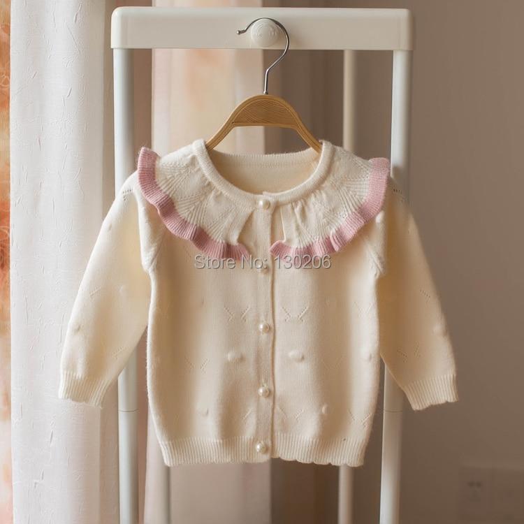 Baby Sweater 2018 Fall New Kids Cardigan Sweater Girls Casual Cute Long Sweater pink sweater baby blumarine sweater