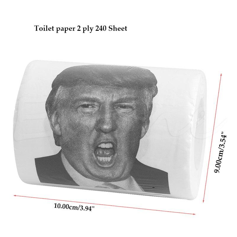 Super! Donald Trump-papier toilette à rouler, rouleau de papier toilette avec trompette, cadeau Gag amusant