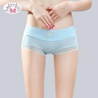Ladychili Women Intimates3pcs Pack Seamless Middle Waist Wome Diamond Flora  Panties Elastic Briefs Edible Underwear ca23bae59