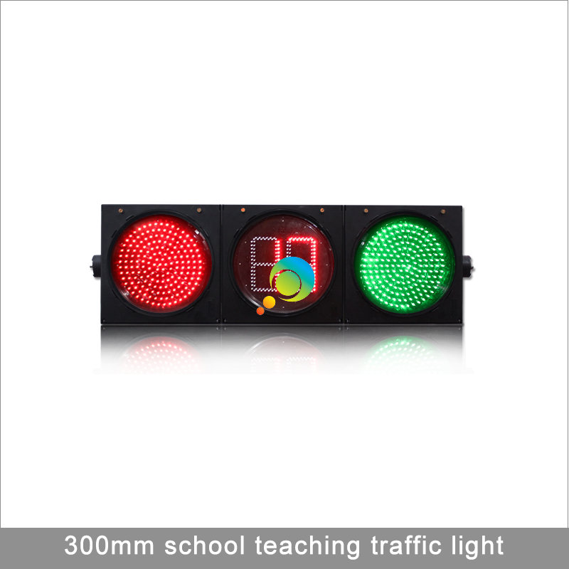 High Quality 300MM School Teaching Remote Control Full Ball Traffic Light With Countdown Timer
