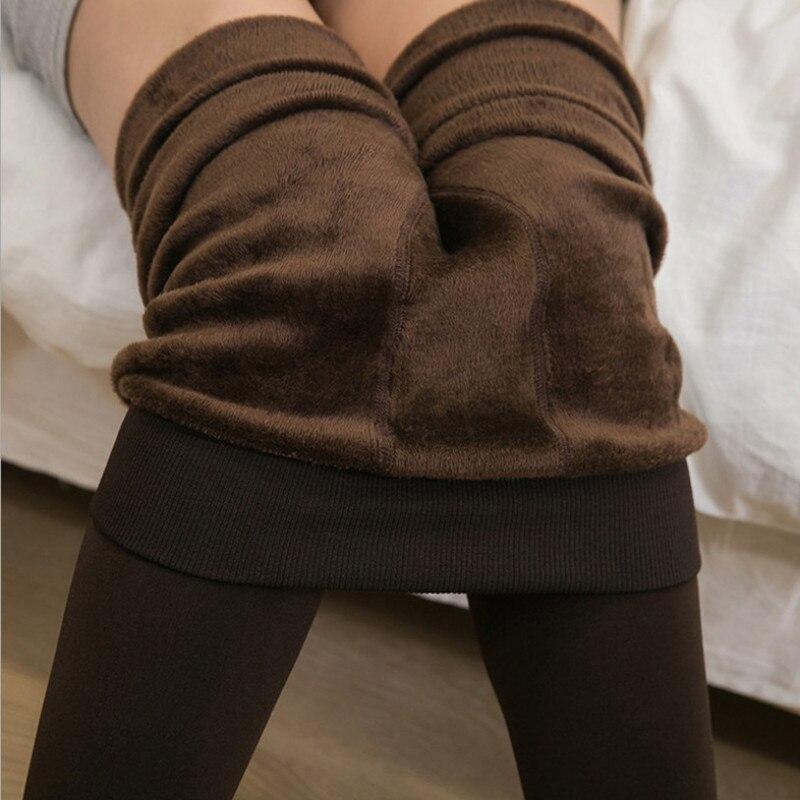 2018 Autumn Winter Candy Color Plus Velvet Stirrup Leggings Thicken Warm Leggings Women Fitness Leggings Skinny Sporting Pant