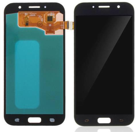 100% Super AMOLED LCD Pour Samsung Galaxy A7 2017 A720 A720F SM-A720F LCD Display + Écran Tactile Digitizer Assemblée livraison le bateau