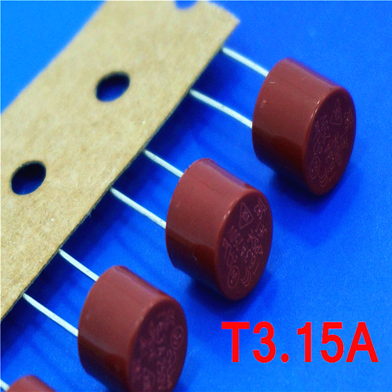 (10 pcs/lot) T3.15A 250V TR5 Slow Blow Subminiature Fuse, UL VDE RoHS Approved, T3.15A, 3.15Amp.