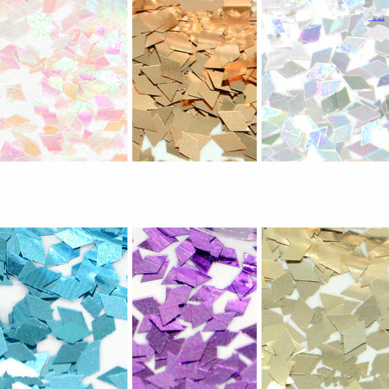 1pcs Rectangle Modeling Clay Sequin Glitter Filler Fluffy Slime Box Toys Children Charms Lizun Kit Accessories Funny Gift