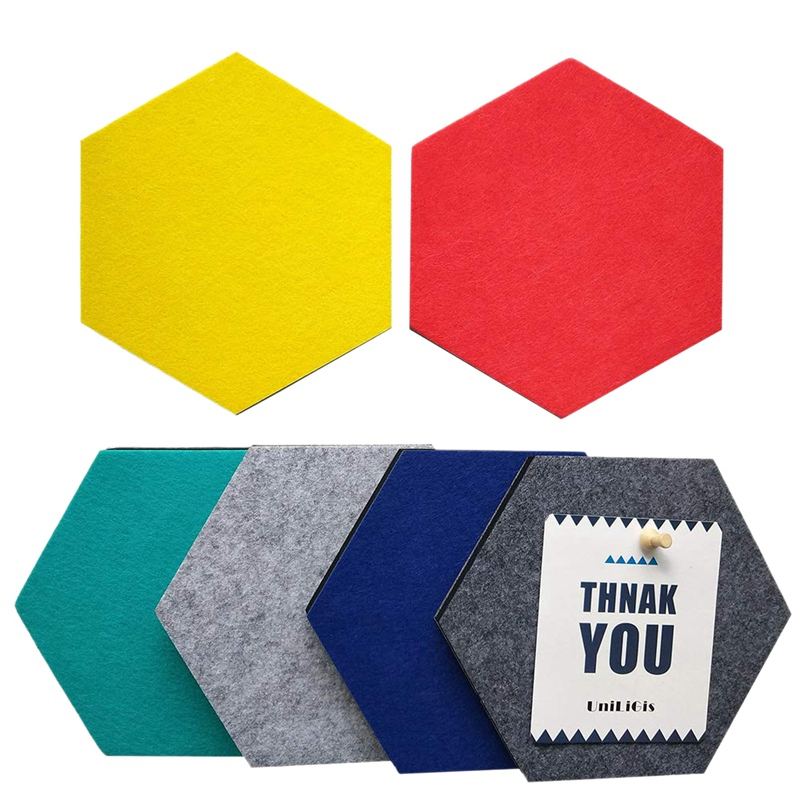 HOT-6 Colors Hexagon Bulletin Board,Felt Cork Board Tiles,Pin Board Wall Decor For Photos,Memos,Display(7x6.1x0.32 Inch)(China)