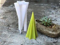 DIY hexagon star cone candle making candle mold,High temperature resistant candle mould for diy
