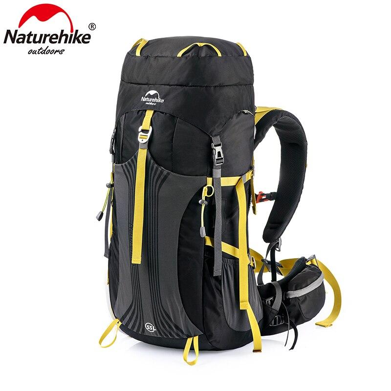 Mochila Naturehike 55L 65L bolsa de senderismo profesional con sistema de suspensión NH16Y065-Q