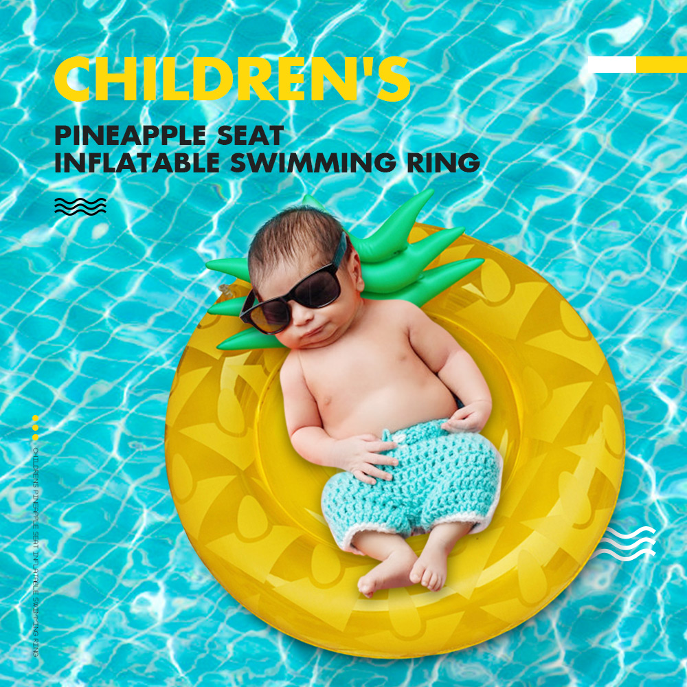 Children'S Pineapple Seat Inflatable Swimming Ring Pool Rafts Inflatable Ride-Ons