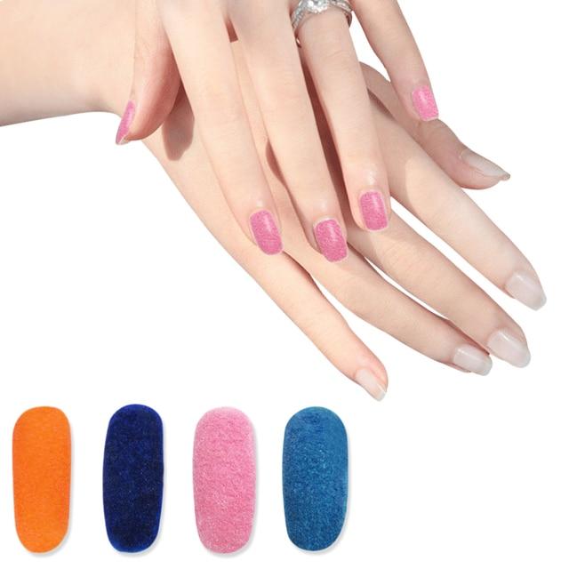 14 Colors Fuzzy Flocking Velvet Nail Glitter Powder Wine Colorful