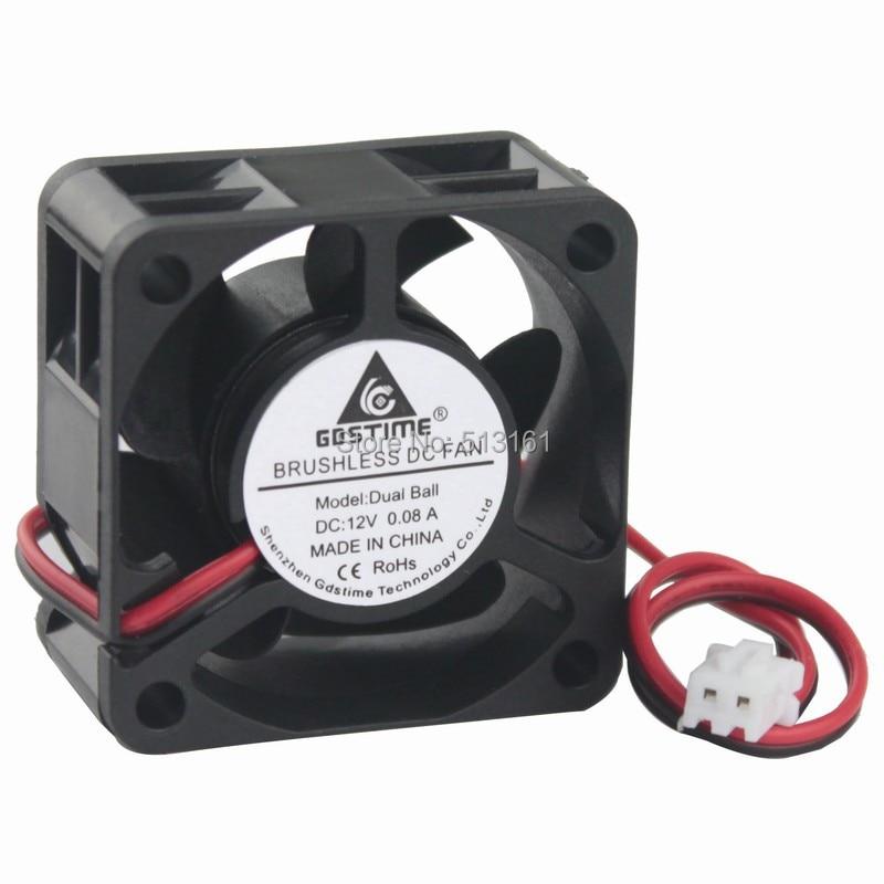 10Pcs Gdstime 4cm 40mm 4020 12V DC Ball Bearing 40x40x20mm Mini Cooler Inverter Cooling Fan in Fans Cooling from Computer Office
