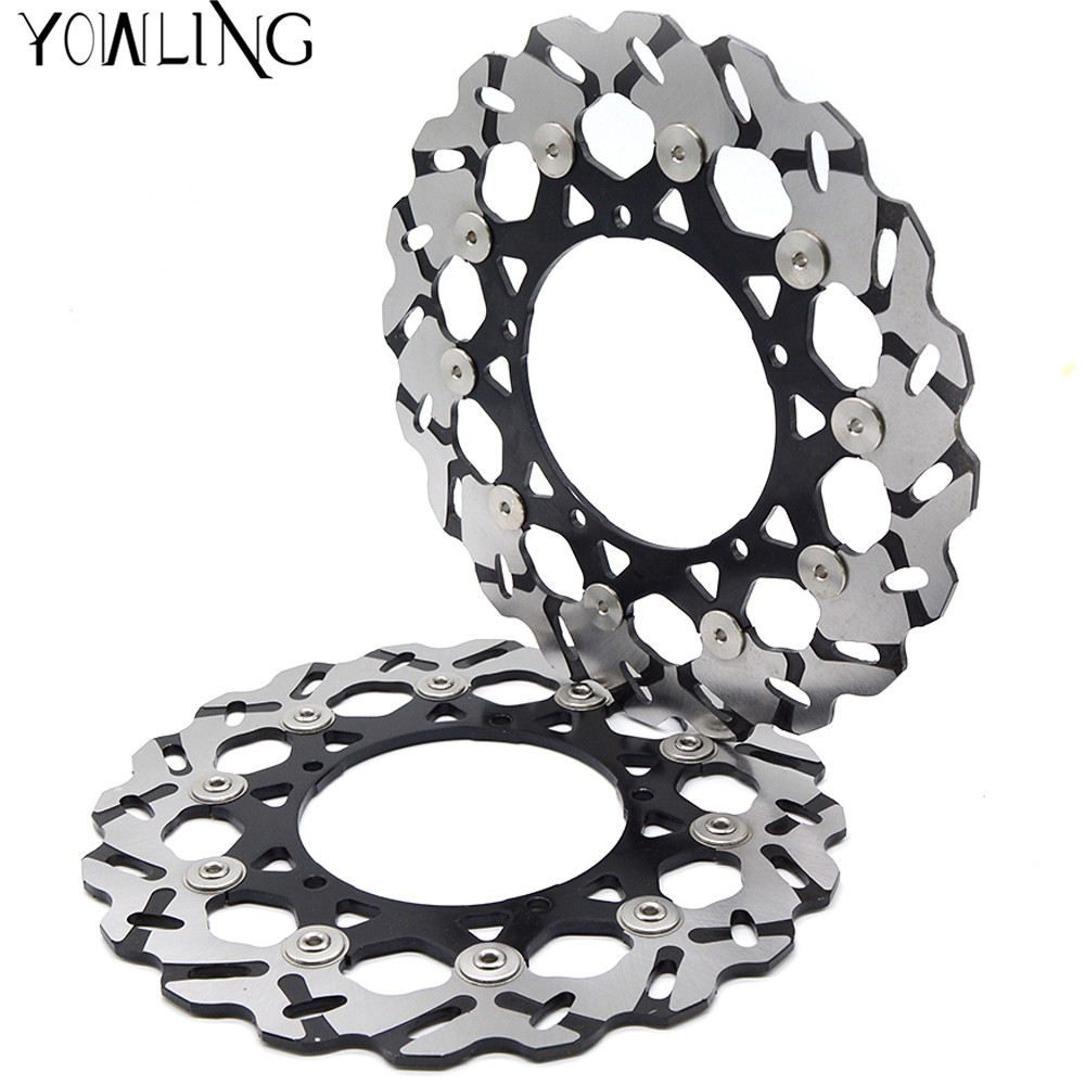 Motorcycle Parts Accessories Front Floating Brake Discs Rotor for YAMAHA YZF600 R6 2007-2012 YZF1000 YZF R1 2007-2013 starpad for lifan motorcycle lf150 10s kpr150 new front brake discs accessories