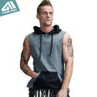 Aimpact Men S Sleeveless GYM Hoodie Crossfit Sport Workout Tees Fitness Bodybuilding Cross Fit Tank Top