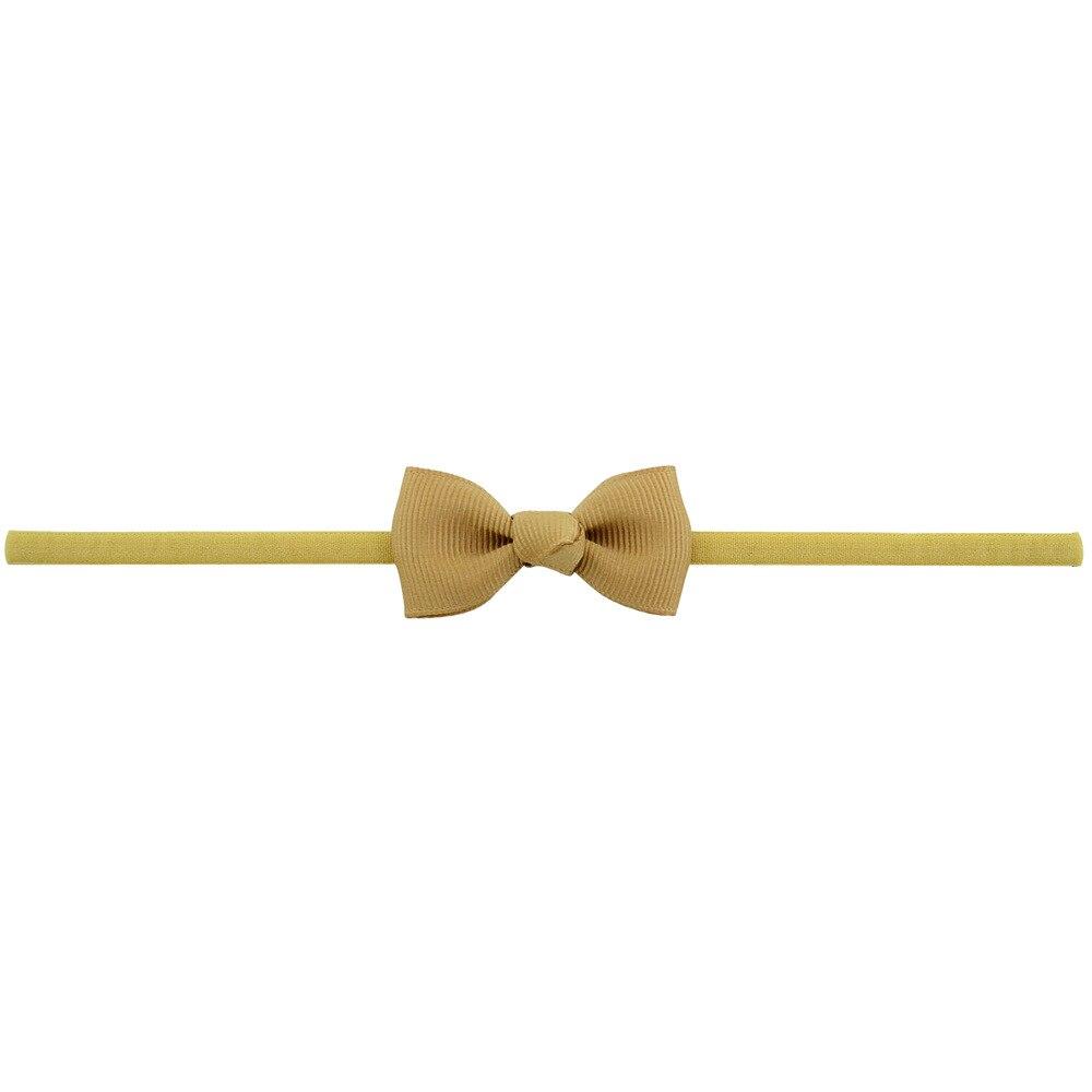 Повязка на голову для маленьких девочек; аксессуары для волос для младенцев; тканевый галстук с бантом; головной убор; Тиара; подарок для малышей; повязка на голову с лентой для новорожденных - Цвет: 2