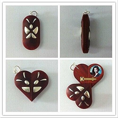 Ángel de regalo de Navidad para el Día de San Valentín collares de plata 999 Corazón de truco de mariposa con colgante de mariposa-in Colgantes from Joyería y accesorios    1