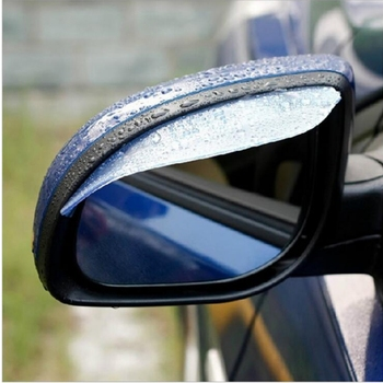 2 pcs Universal Door Side Rear View Wing Mirror Rain Visor Board Snow Guard Weather Shield Sun Shade Cover Rearview Accessories image