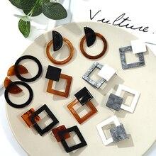 Vintage Classic Clam Acetate Earrings Geometric Resin Acrylic Earrings Female Girl Drops Oval Earrings Jewelry Wholesale