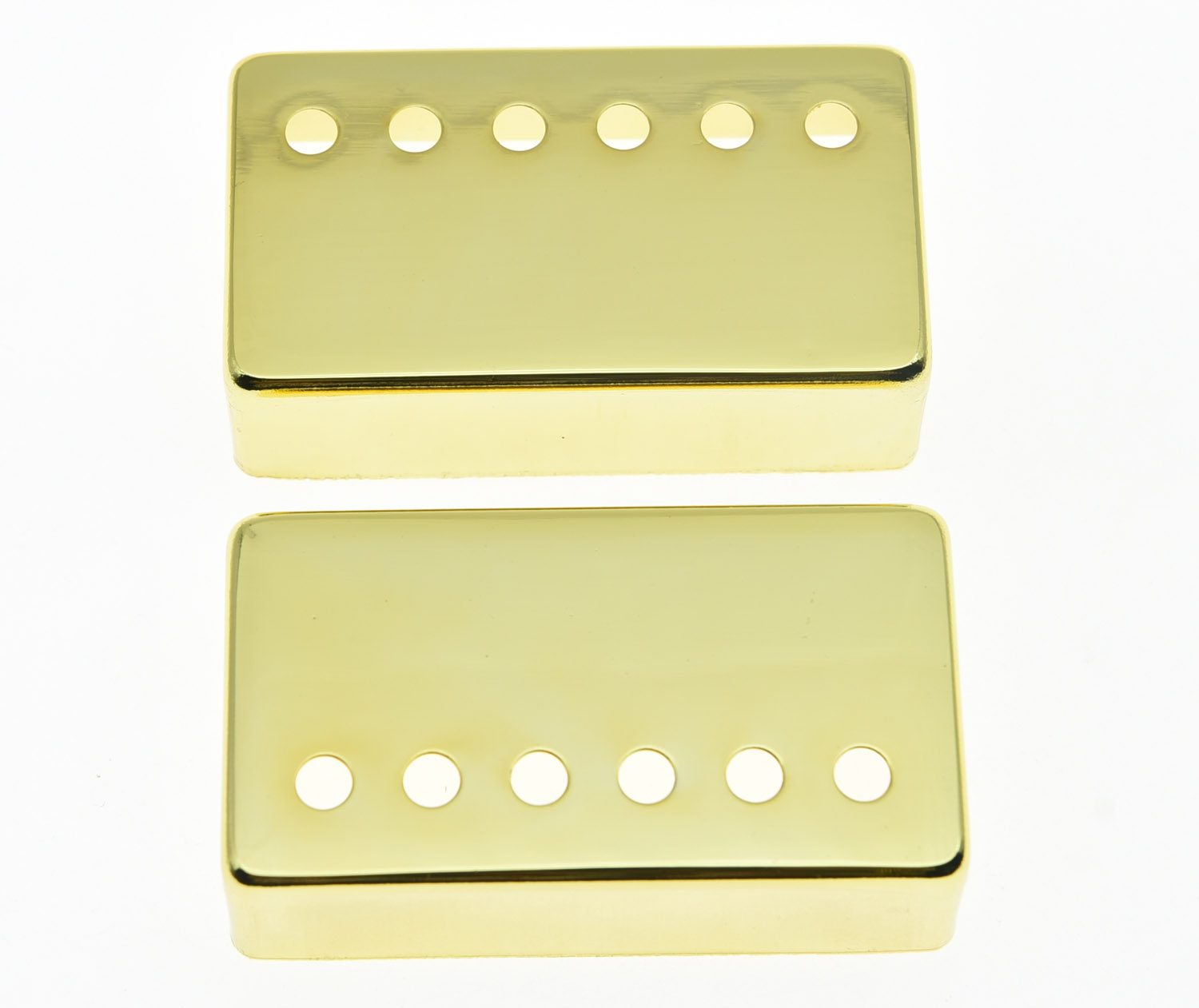 KAISH 2x Gold LP Humbucker Guitar Pickup Cover 50and 52 Pole Spacing Covers for Les Paul 2 holes aluminum alloy guitar truss rod cover bell shape fits for epiphone les paul lp for electric guitar replacement part new
