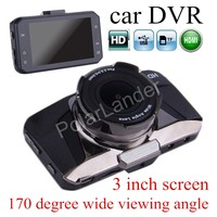 free shipping hot sale GT2000 3 inch LCD Novatek 650 Dashcam Car DVR 170 Degree wide viewing angle Video Recorder Camera
