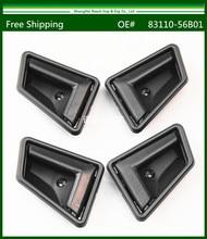 Новый вне Внутренней Ручки Двери для Suzuki Sidekick Черная Передняя и Задняя 1989-1998 4 Шт. 8311056B01/8313056B01(China (Mainland))