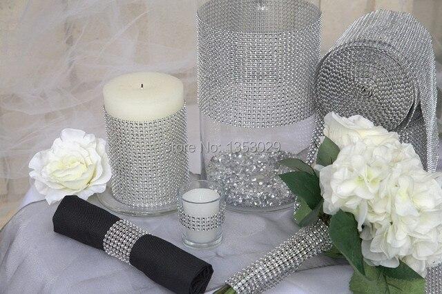 Lowest Price on Aliexpress!!! Silver Mesh Trim Wedding Decoration