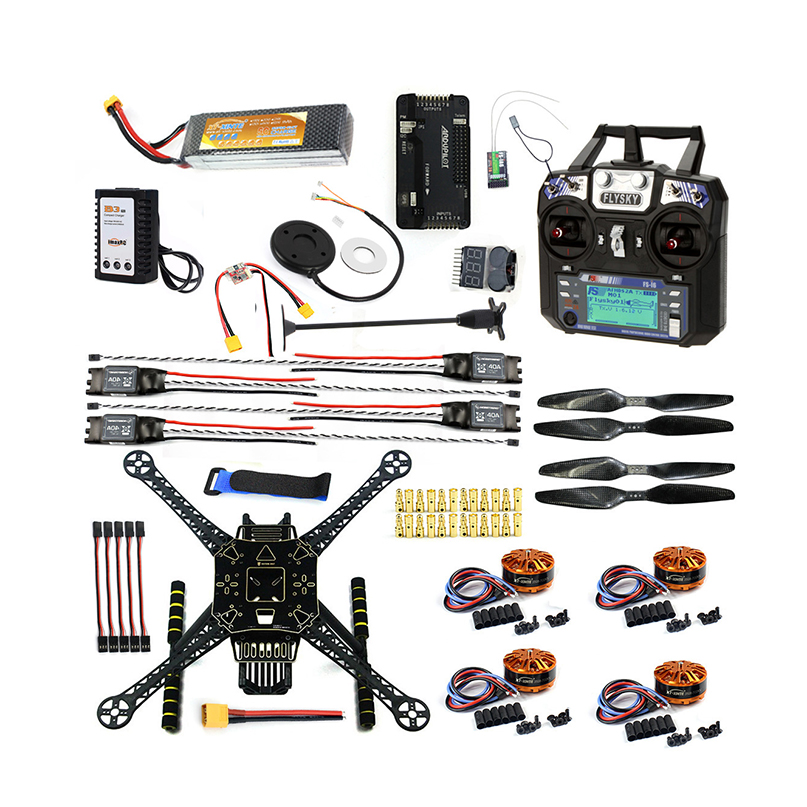 Aksioni DIY FPV Drone W / FS-I6 TX RX S600 4 bosht Quadcopter APM 2.8 - Lodra me telekomandë - Foto 1