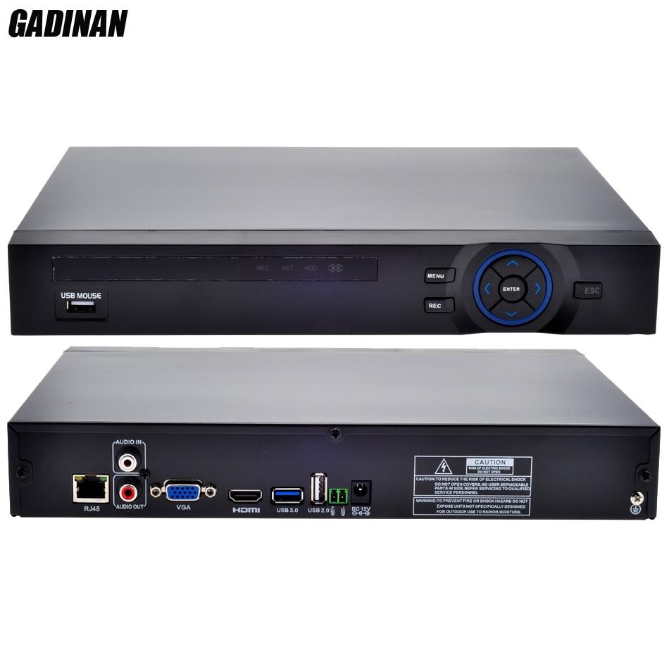 GADINAN ONVIF CCTV NVR 16CH 1080P NVR /4CH 5M Network Video Recorder H.264 HDMI for 960P 1080P 5MP IP Camera XMEYE P2P Cloud