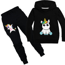 Unicorn Hoodies Kids Sweatshirts Fashion Kids Hooded T Shirt Baby Toddler Girls Coat Kids Clothes Boys Casual Tees Sportswear