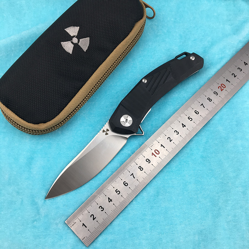 LEMIFSHE JK3217GB G10 Flipper folding knife D2 steel blade G10 + steel handle camping outdoor hunting kitchen fruit knife EDC to