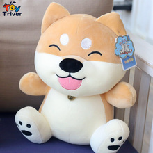Shiba Inu Dog Husky Puppy Plush Toy Triver Stuffed Doll Baby Kids Children Boy Girl Birthday Christmas Gift Home Decor Craft стоимость