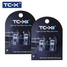 TC-X 2 пары t10 w5w led передние габариты подсветка салона номера лампочки для авто светодиоды габариты Т10 w5w led canbus светодиод Т10 с обманкой Т10 10leds свет чистый белый светодиодные лампы для авто Т10