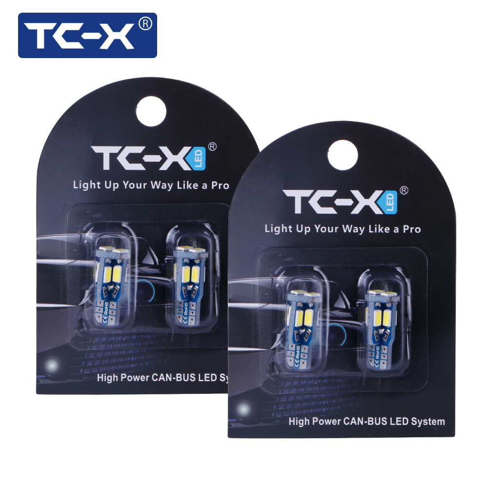 TC-X 2 Pairs Auto-styling T10 W5W 6000 Karat Pure White 5730SMD t10 w5w led canbus Ersatz LED innen beleuchtung Standlicht