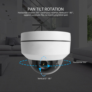 Image 3 - 2MP 5MP Full HD PTZ IP Camera Outdoor Mini Speed Dome Cam IP Onvif 4X Zoom P2P 40m IR Night Vision ip66 Waterproof POE Optional
