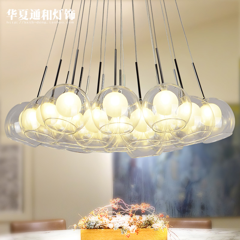 lamp glass bubble ball LED NEW Creative personality head pendant lights combination dining room lamp double staircase ZCL 4pcs new for ball uff bes m18mg noc80b s04g