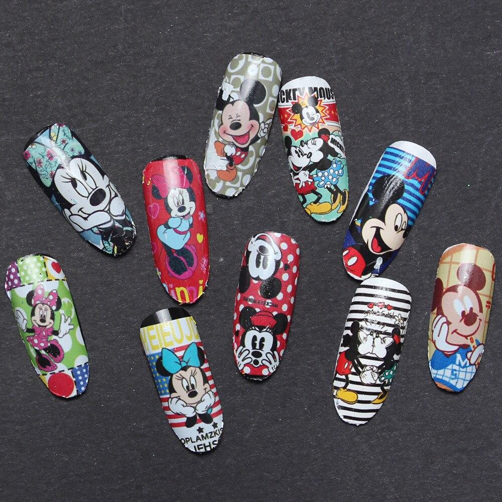 1 Unids Mickey Minnie Pegatinas Nail Art 3D Pegatinas Para Uñas Art ...