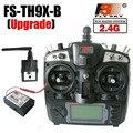 Conjunto sistema de rádio transmissor fs flysky 2.4g 9ch th9x fs-th9x tx & rx fs-r8b receiver para rc helicóptero quadcopter controlador