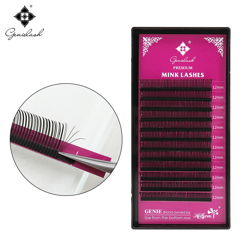 Genielash fast blooming eyelash extension volume eyelash extensions easy to pick 5D lashes professional makeup use brand extensions of fast moving consumer goods