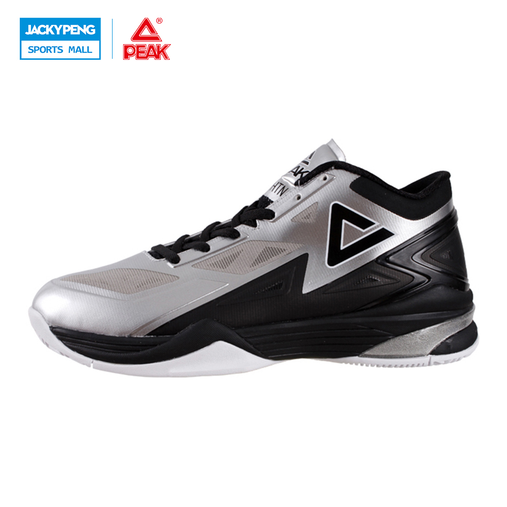 PEAK SPORT Lightning II Men Authent Basketball Shoes FOOTHOLD Cushion-3 Tech Sneakers Athletic Training Sports Boots EUR 40-50 peak sport star series george hill gh3 men basketball shoes athletic cushion 3 non marking tech sneakers eur 40 50