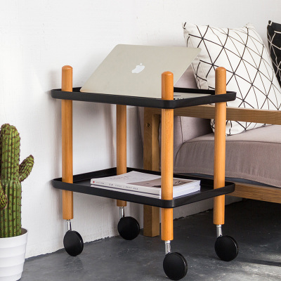 Moetron Creative Storage Rack Movable Shelf Multifunction Kitchen Dish Bathroom Shelves Plastic Book With Wheel In Holders Racks From