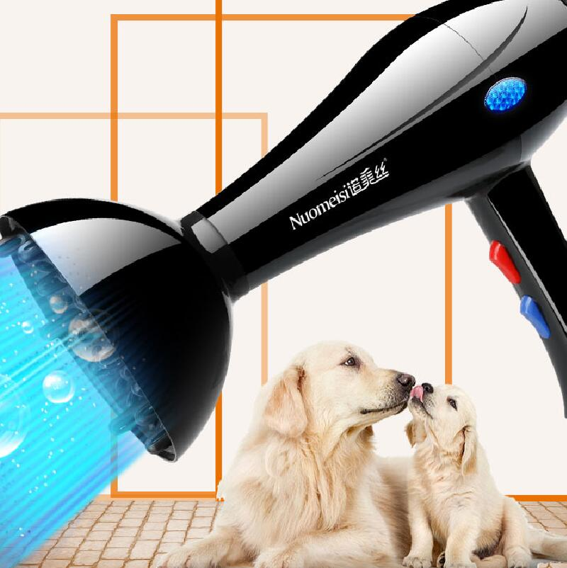 Professional Pet Hair Dryer Pet Dedicated High Power Blowing Artifacts Golden Hair Teddy Cat Small Large Dog Blower Heater dryer pet dog professional hair dryer ultra quiet high power stepless regulation of the speed drying machine 2400 w