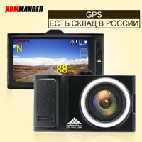 KOMMANDER Car DVRs GPS Camera 2 In 1 LDWS Ambarella A7LA50 Speed Cam Full HD 1296P