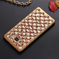 FLOVEME Luxury Hollow Rhinestones Case For Samsung Galaxy A3 A5 A7 Plating Rose Gold Diamond Glitter Back Protective Cover Shell