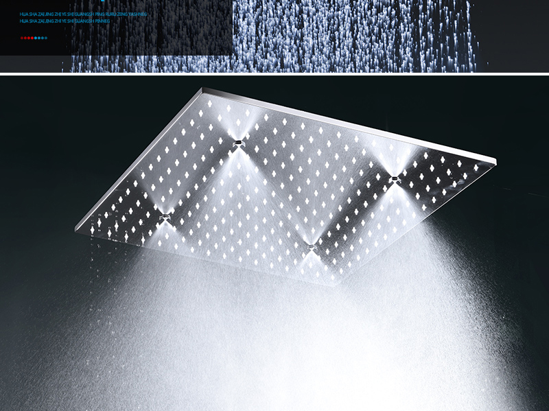 hm Rain And Mist LED Ceiling Shower Fauct Tap 20 Inch Tempetatures Change Bathroom Shower Kit 3 Pcs Body JetsMixer Shower (7)